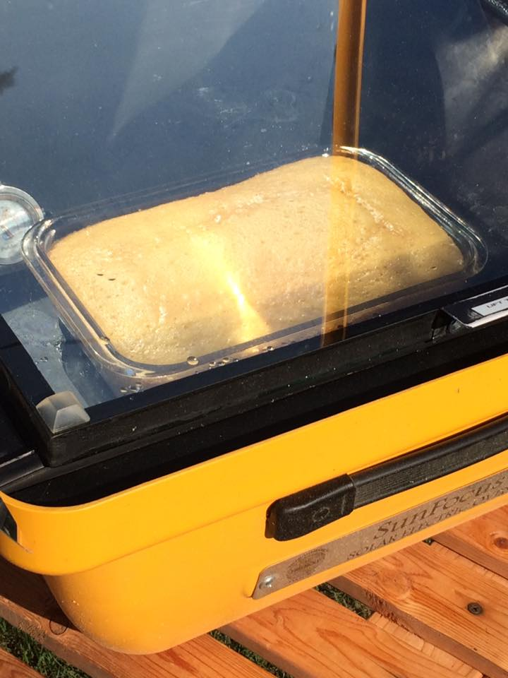 Solar Cooking - Solar Electric Oven baking bread
