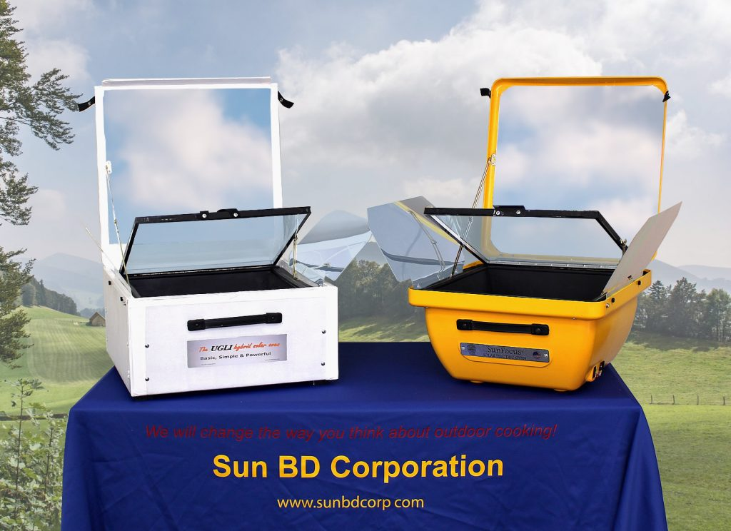 Our Hybrid Solar Ovens Bake, Roast, Steam, Boil, and More.